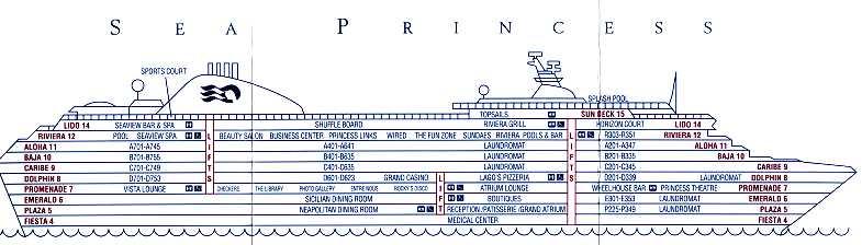 Pdf Deck Plan Sun Princess