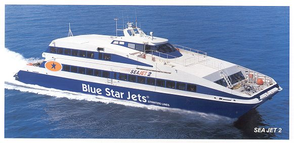 blue star ferries how to get from mykonos to ios