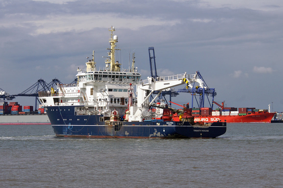 THV Galatea Arriving At Harwich