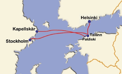 Tallink 2002 Route map