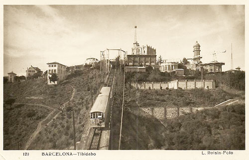 Barcelona - Tibidabo Funicular - www.simplompc.co.uk - Simplon Postcards