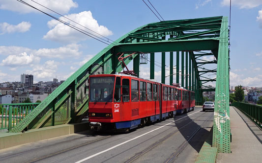Belgrade KT4 Trams - www.simplonpc.co.uk - Photo: ©Ian Boyle 17th May 2016