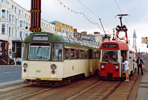 BLACKPOOL TRAMS - Photo: ©1983 Ian Boyle - www.simplompc.co.uk - Simplon Postcards