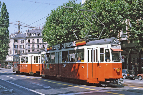 Swiss Standard Tram - www.simplonpc.co.uk - Photo: ©1985 Ian Boyle