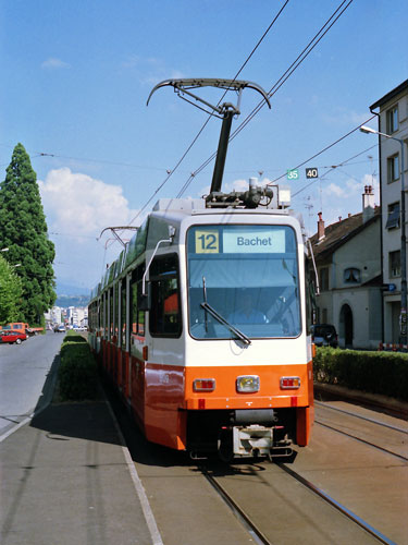 Swiss DAV Be4/6 Tram - www.simplonpc.co.uk - Photo: ©1985 Ian Boyle
