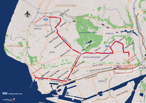 Le Havre New Tramway Map - www.simplonpc.co.uk