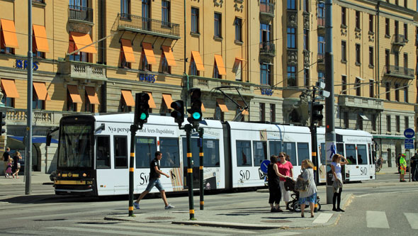 Stockholm Trams - Photo: ©2011 David Pennock - www.simplompc.co.uk - Simplon Postcards