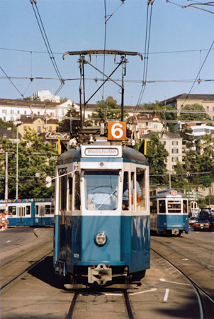 Zurich Trams - www.simplonpc.co.uk - Photo: ©1988 Ian Boyle