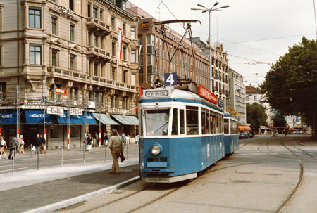 Zurich Trams - www.simplonpc.co.uk - Photo: ©1985 Ian Boyle