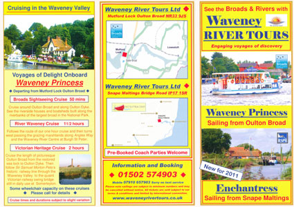 2011 Waveney timetable